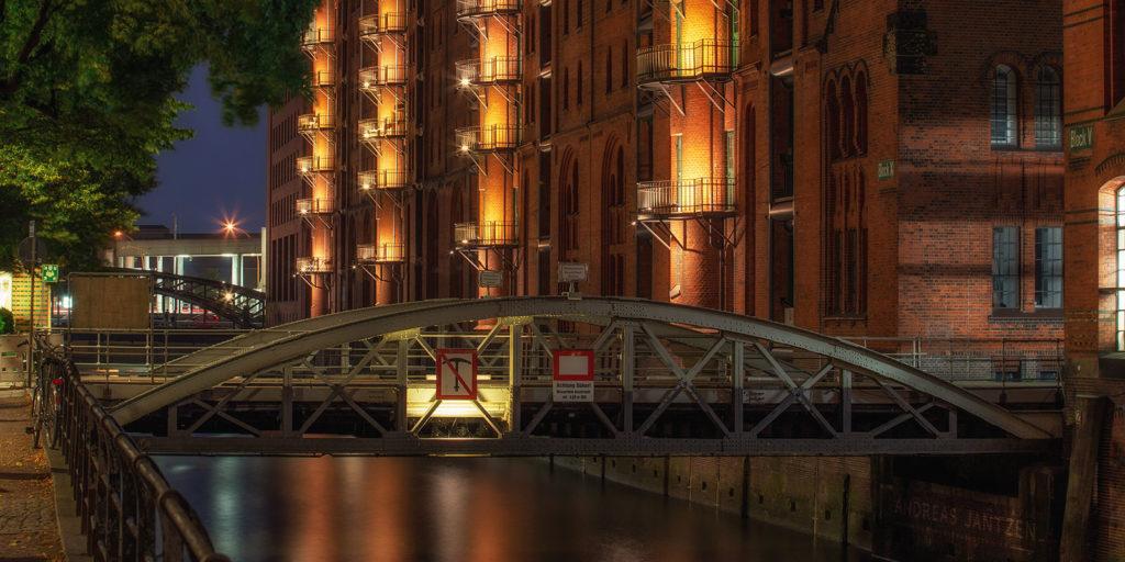 Nachtfotografie Speicherstadt Hamburg